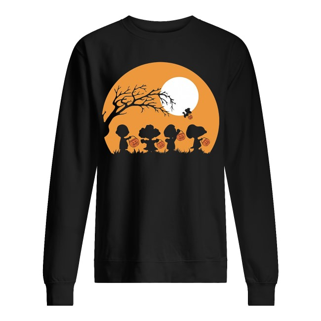 Charlie Brown and Snoopy Happy Halloween Sweater