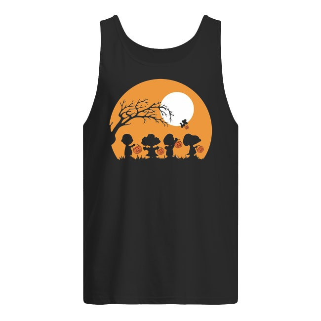 Charlie Brown and Snoopy Happy Halloween Tank Top