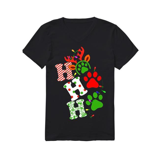 Dog and Christmas V-neck T-shirt