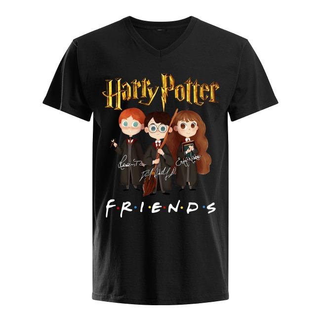 Harry Potter Friends Signatures V-neck T-shirt