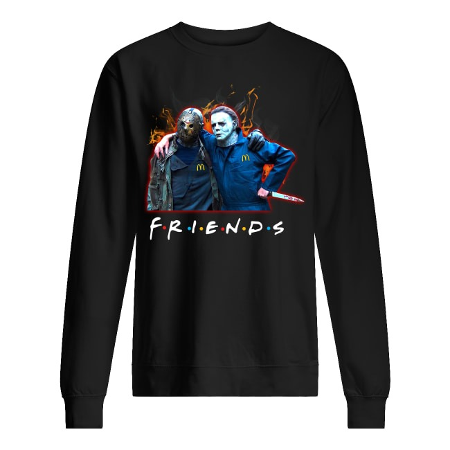 Horror and Jason Voorhees Is Friends McDonald's Logo Sweater