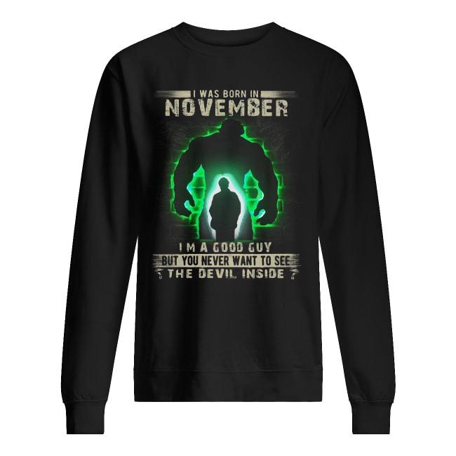 Hulk Robert Bruce Banner Born In November Sweater
