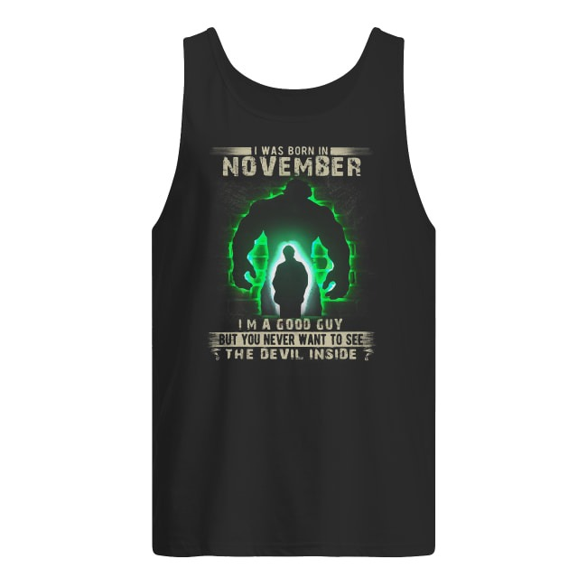 Hulk Robert Bruce Banner Born In November Tank Top