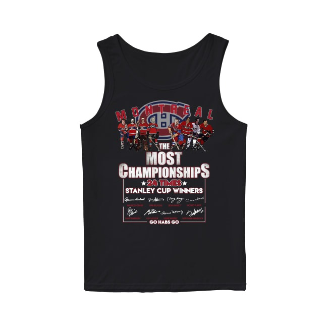 Montreal Canadiens The Most Championships Tank Top