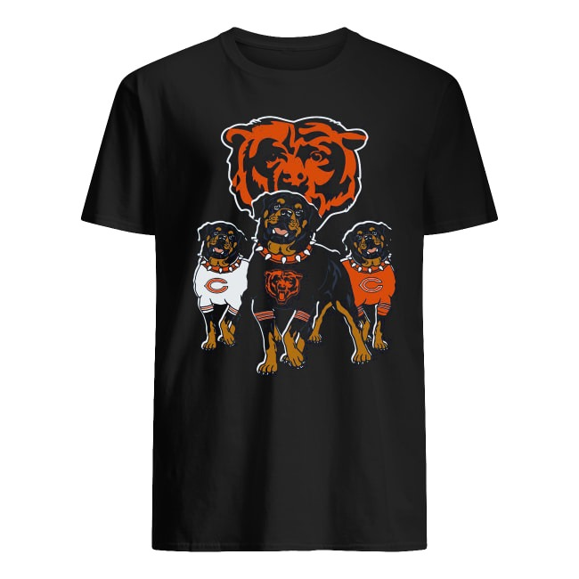 sports shoes 3b3ec df99a Rottweiler Dog and Logos Of The Chicago Bears shirt and v ...