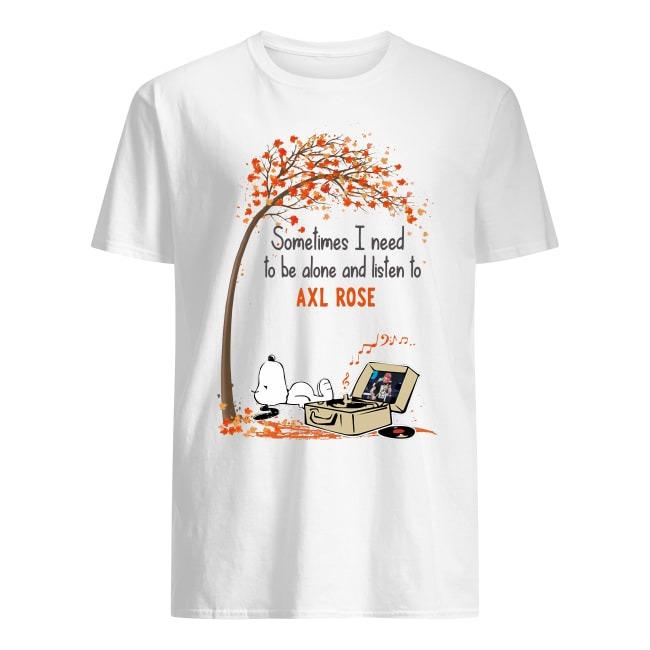 Snoopy Listen To Axl Rose shirt