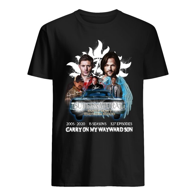 Supernatural Family Don't End With Blood 2005-2020 Signature shirt