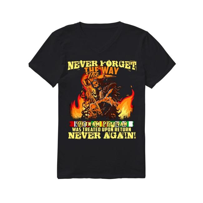 Vietnam Veteran Never Forget The Way V-neck T-shirt