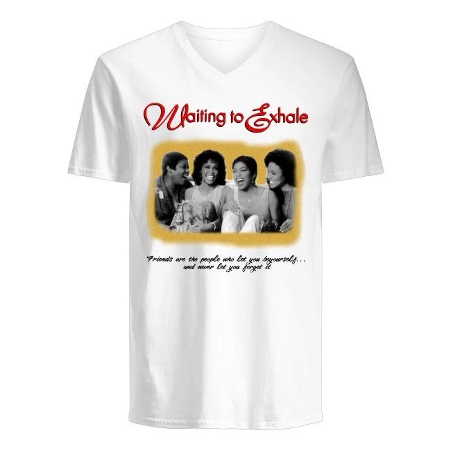 Waiting To Exhale Whitney Houston and Angela Bassett V-neck T-shirt
