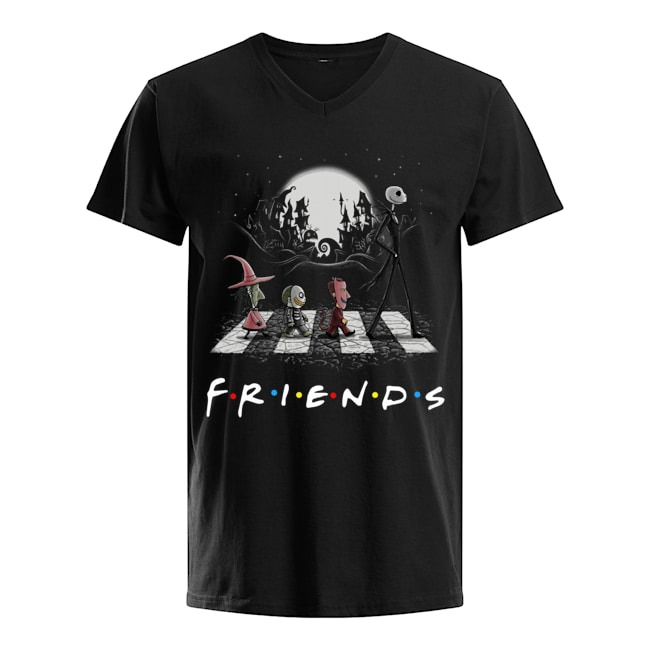 Abbey Road the Nightmare before Christmas Friends TV show V-neck T-shirt