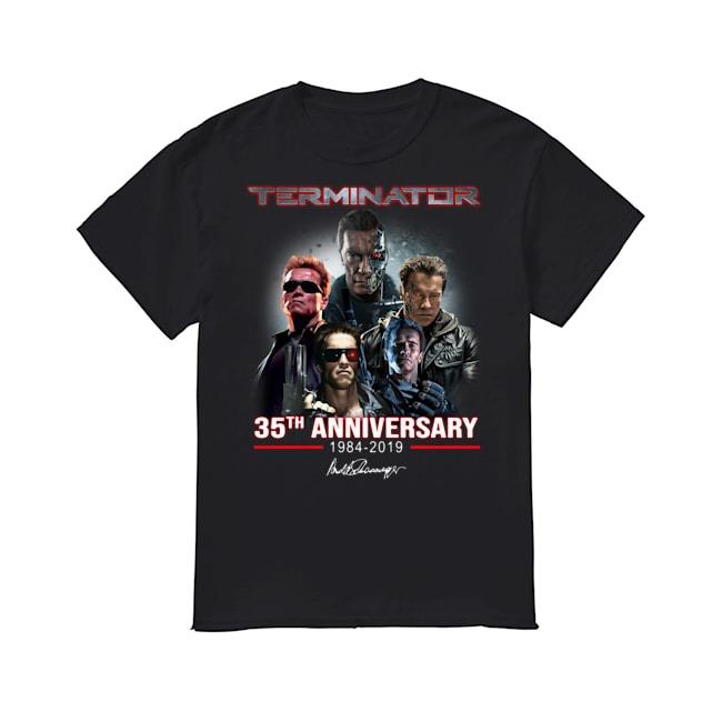 Arnold Schwarzenegger Terminator 35th Anniversary 1984-2019 signature shirt