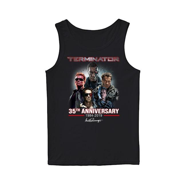 Arnold Schwarzenegger Terminator 35th Anniversary 1984-2019 signature Tank Top