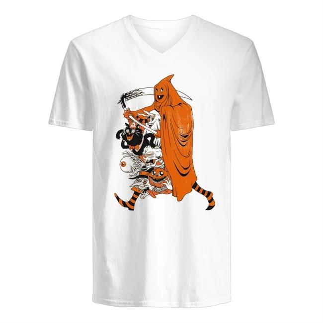 Death Houston Astros Happy Halloween V-neck t-shirt