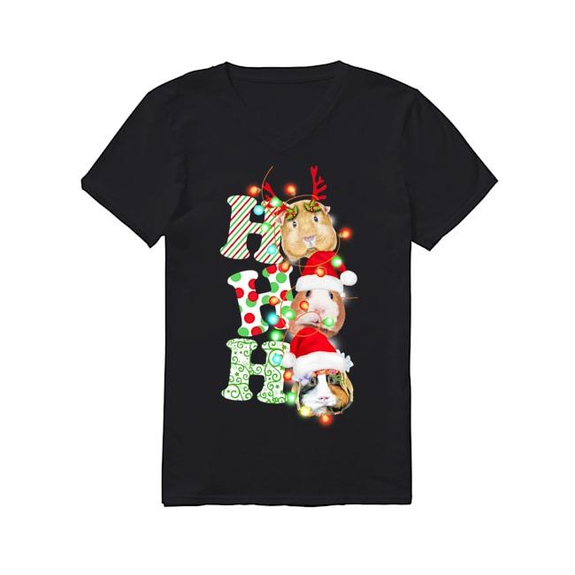 Guinea Pig Christmas V-neck T-shirt