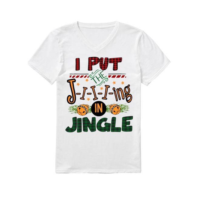 The Jiiiing in Jingle Mery Christmas V-neck T-shirt