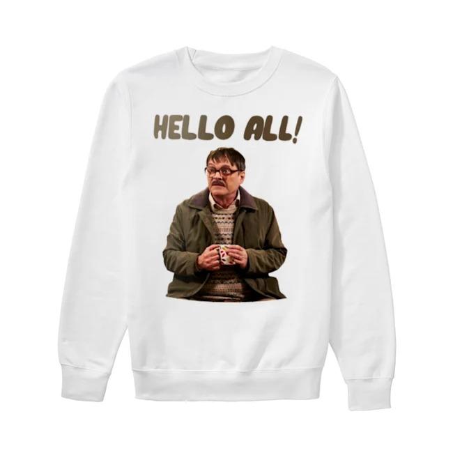 Jim Bell Friday Night Dinner hello all Sweater