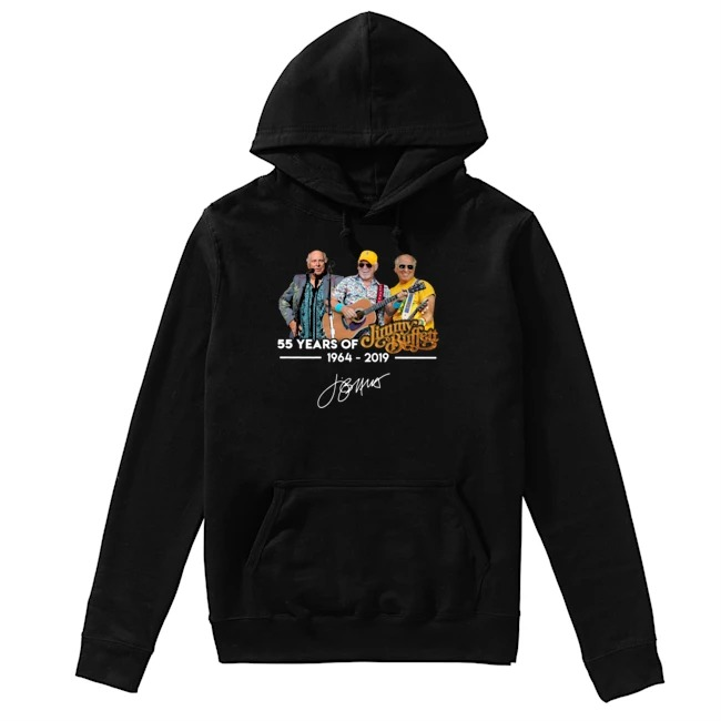 Jimmy Buffett 55th Years Of 1964-2019 signature Hoodie