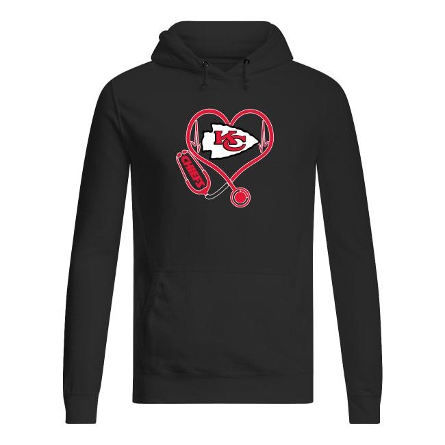 Kansas City Chiefs logo Nurse Heartbeat Hoodie