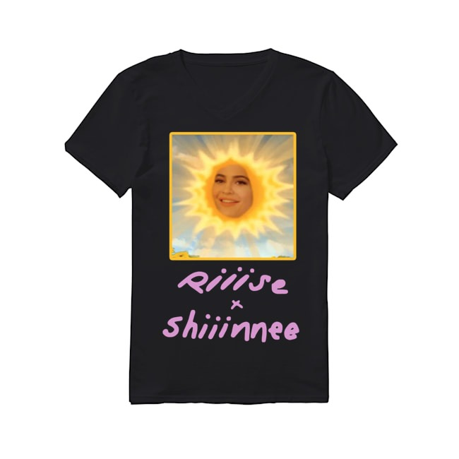 Kylie Jenner Riiise and shiiinnee V-neck T-shirt