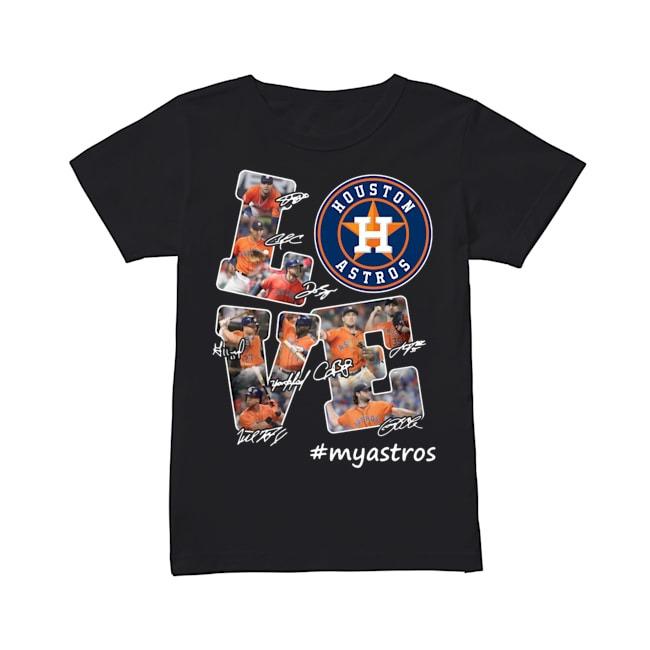 Love Houston Astros signature Ladies Tee