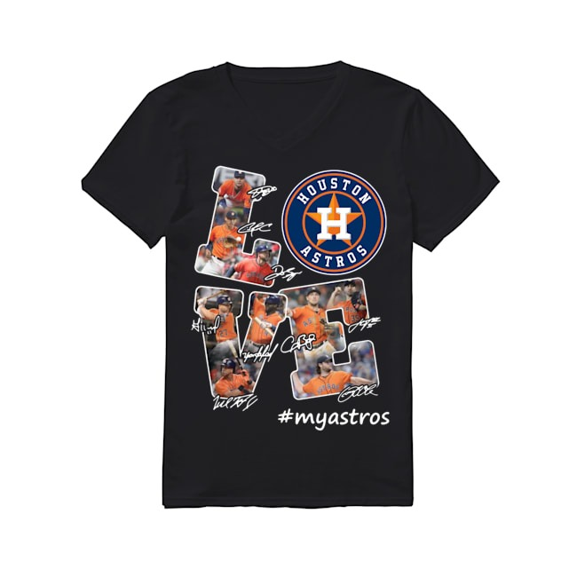 Love Houston Astros signature V-neck T-shirt