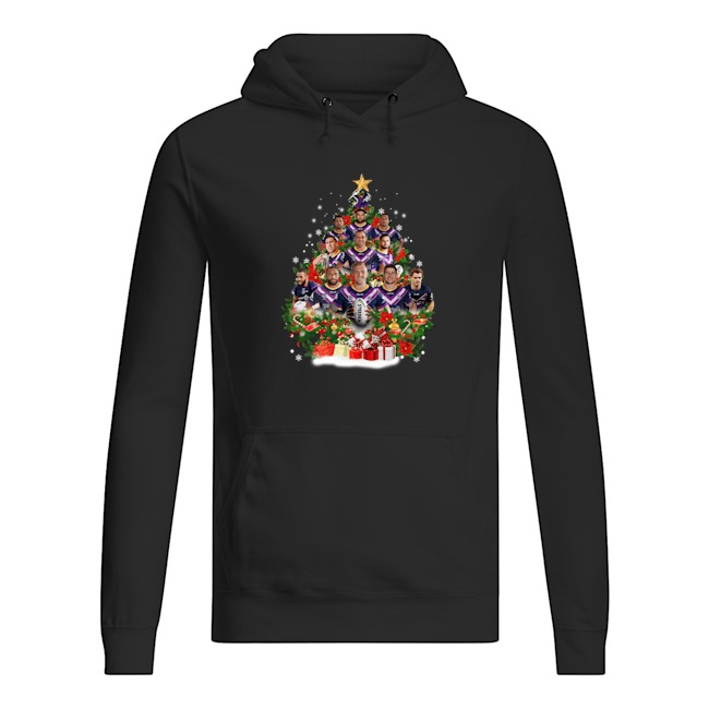 Christmas Trees Melbourne: Melbourne Storm Team With Steeden Rugby Christmas Tree Shirt