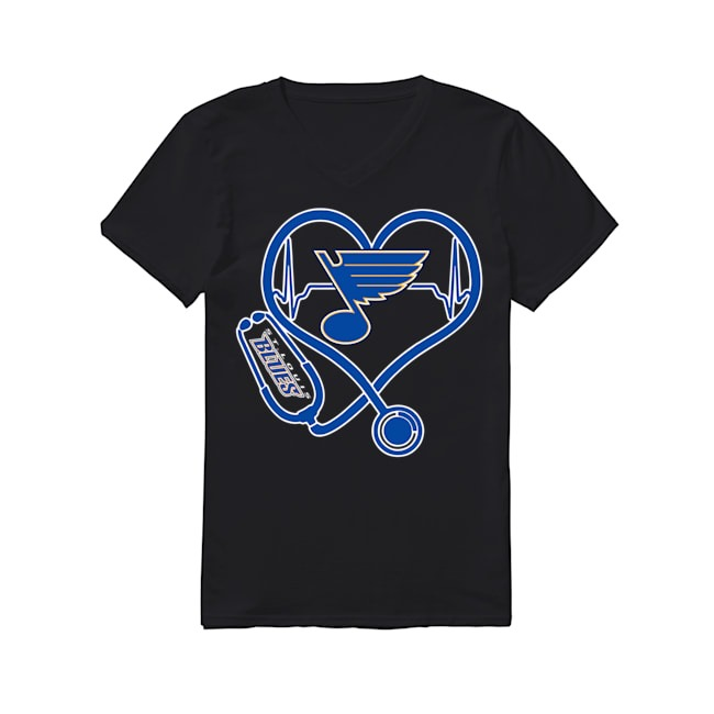 Nurse Heartbeat Louis Blues V-neck T-shirt