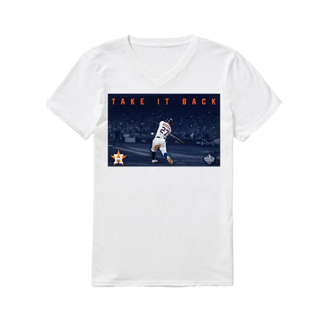 Official Houston Astros Take It Back V-neck T-shirt