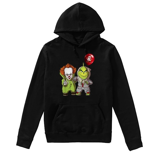 Pennywise and Grinch Santa Claus Hoodie