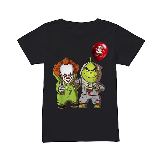 Pennywise and Grinch Santa Claus Ladies Tee