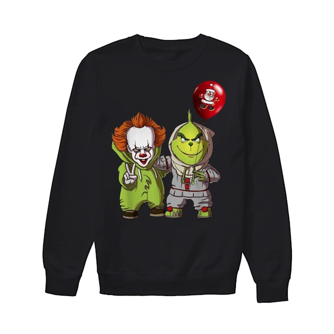 Pennywise and Grinch Santa Claus Sweater