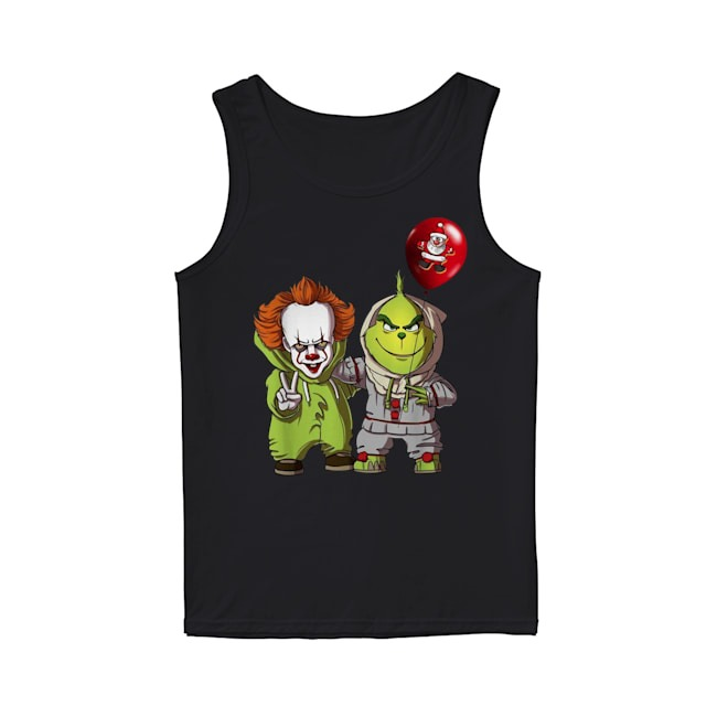 Pennywise and Grinch Santa Claus Tank Top