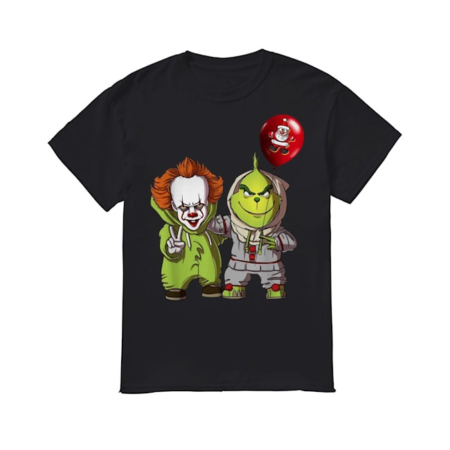 Pennywise and Grinch Santa Claus shirt