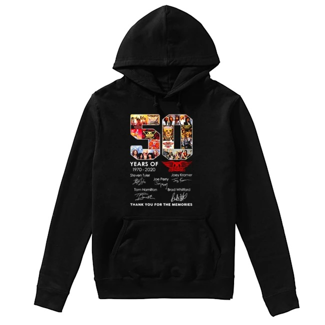 Queen 50th Years Of 1970-2020 signature thank you for the memories Hoodie