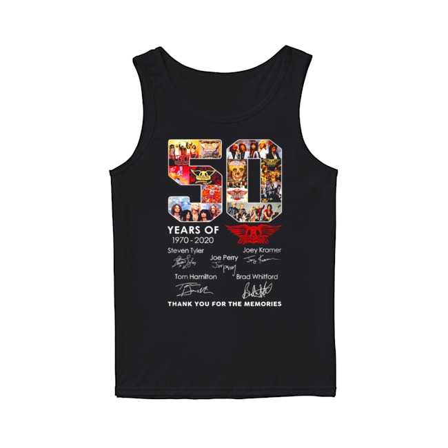 Queen 50th Years Of 1970-2020 signature thank you for the memories Tank Top