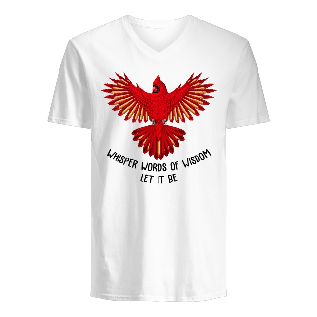Red Parrot Bird Flying The Beatles Let It Be V-neck T-shirt