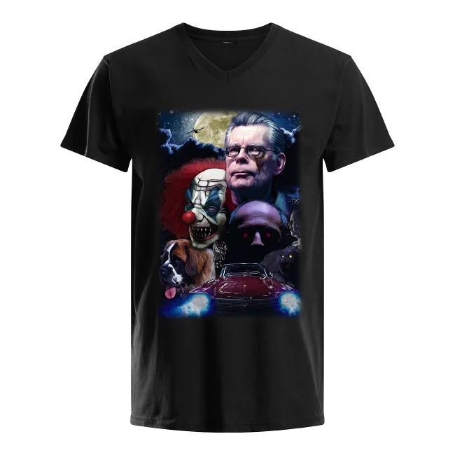 Stephen King and Horror Movies Characters V-neck T-shirt