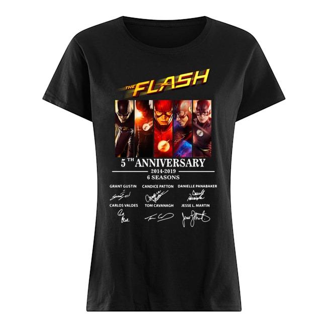 The Flash 5th Anniversary 2014-2019 signature Ladies Tee
