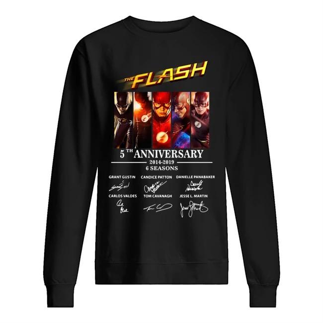 The Flash 5th Anniversary 2014-2019 signature Sweater