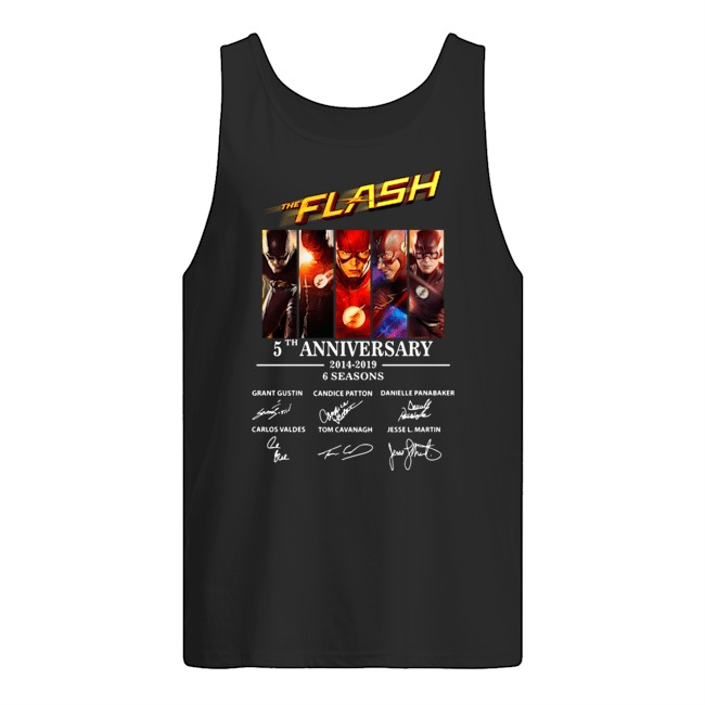 The Flash 5th Anniversary 2014-2019 signature Tank top