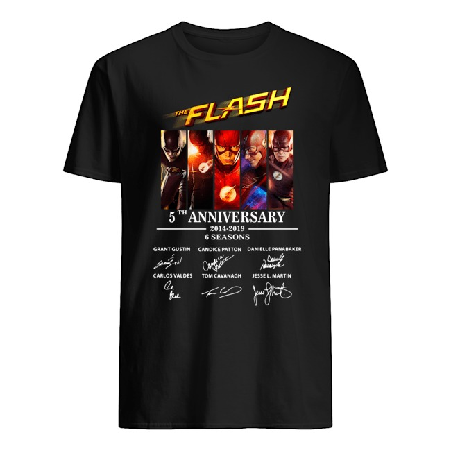 The Flash 5th Anniversary 2014-2019 signature shirt
