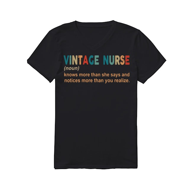 Vintage Nurse V-neck T-shirt