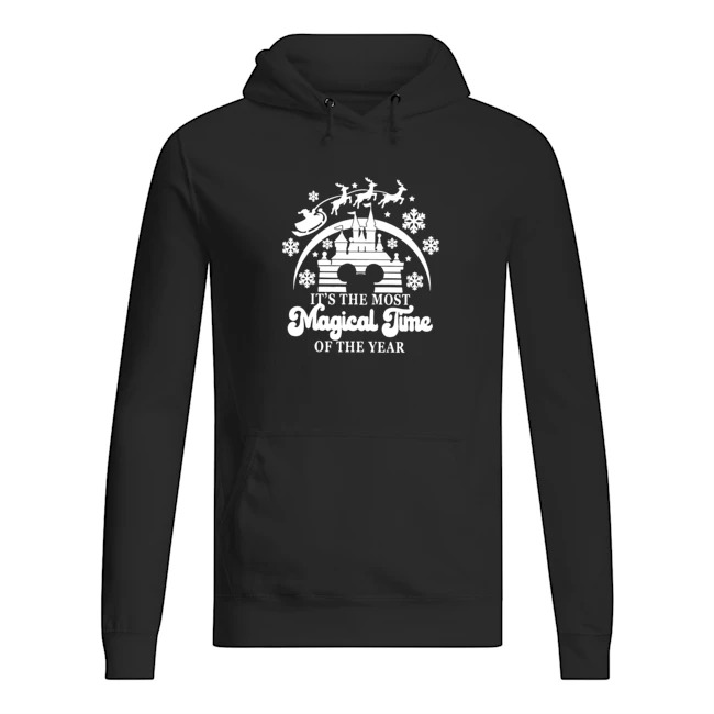 Walt Disney The Most Magical Time Of The Year Merry Christmas Hoodie