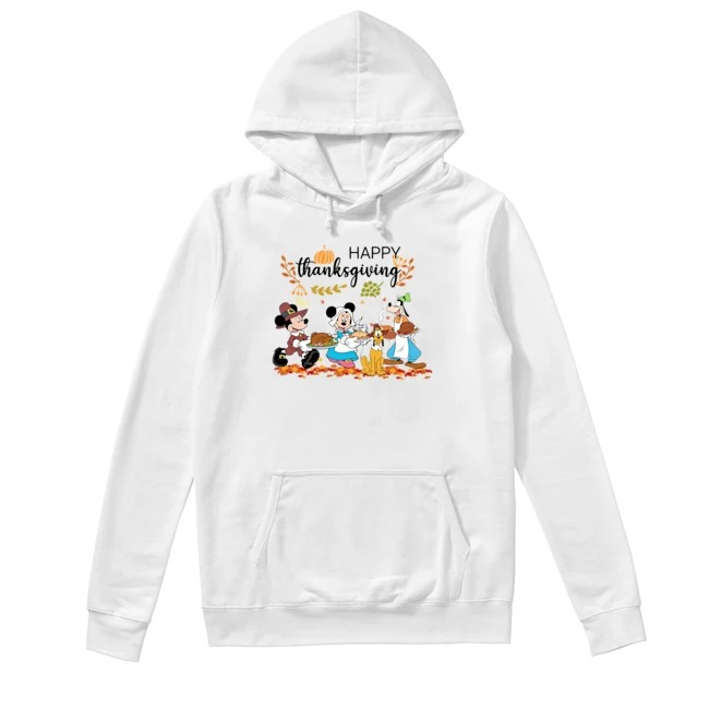 Walt Disney Mickey Mouse Happy Thanksgiving Hoodie