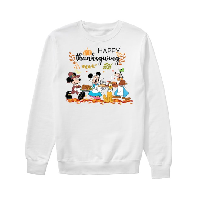 Walt Disney Mickey Mouse Happy Thanksgiving Sweater