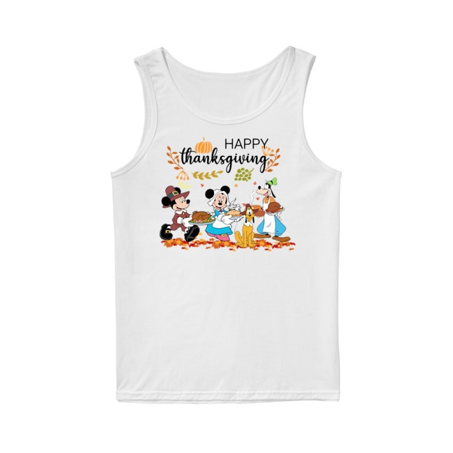 Walt Disney Mickey Mouse Happy Thanksgiving Tank Top