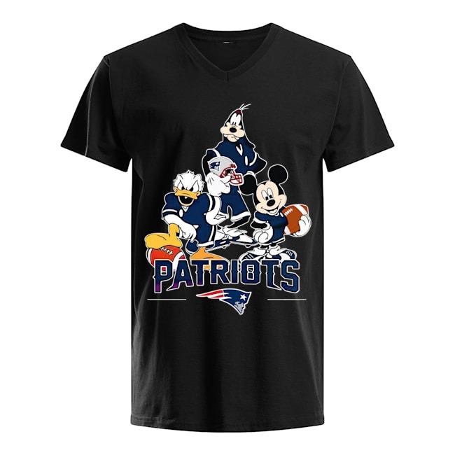 Walt Disney New England Patriots Team V-neck T-shirt