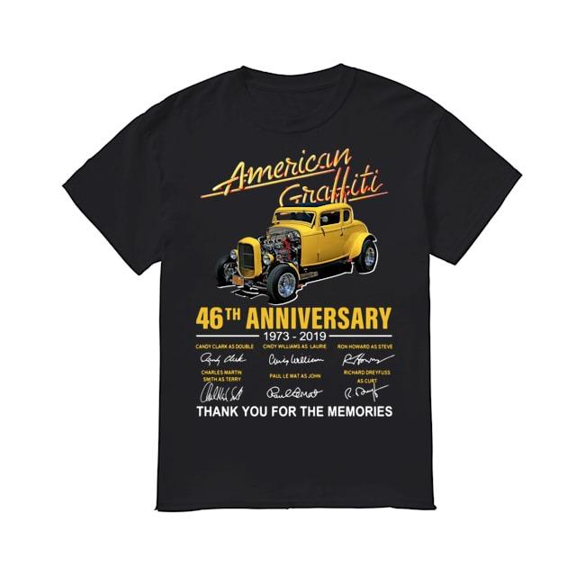American Graffiti 46th Anniversary 1973-2019 signature shirt