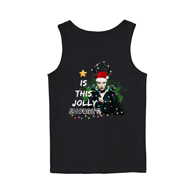 Angelina Jolie Maleficent Is This Jolly Enough Christmas Light Tank Top