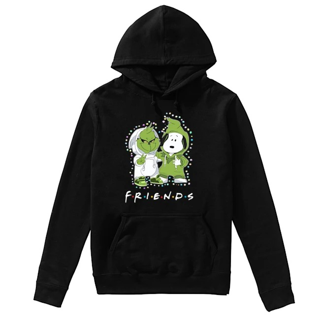 Baby Grinch Snoopy Friends TV Show Christmas Light Hoodie